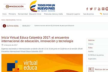 Inicia Virtual Educa Colombia 2017