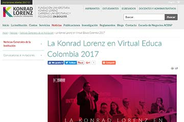 La Konrad Lorenz en Virtual Educa Colombia 2017
