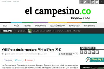 XVIII Encuentro Internacional Virtual Educa 2017