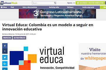Virtual Educa: Colombia es un modelo a seguir en innovación educativa