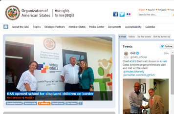 OAS opened school for displaced children on border