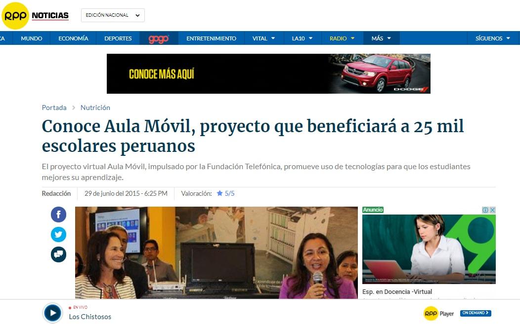 Conoce Aula Móvil, proyecto que beneficiará a 25 mil escolares peruanos