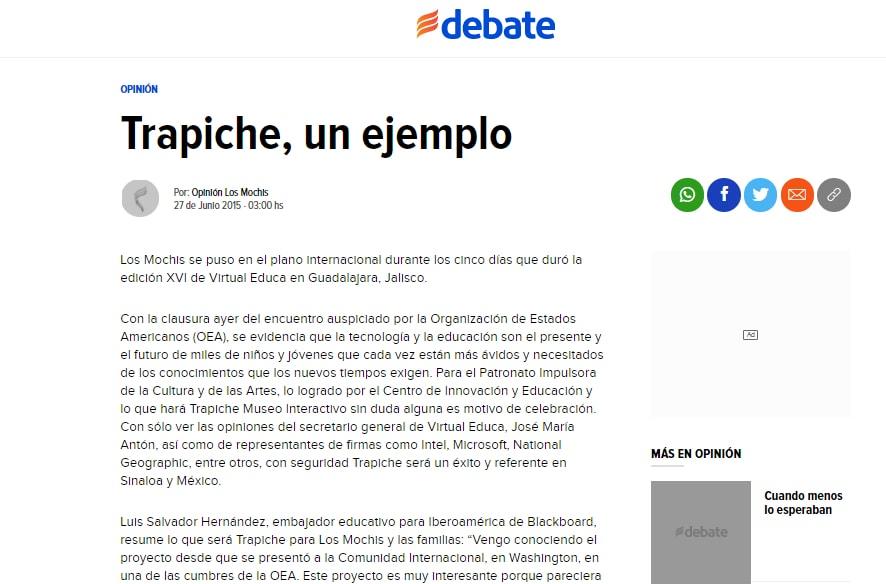 Trapiche, un ejemplo
