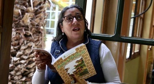 Docente de Sáchica se lució con 'Cuenta mi abuelito' en Argentina