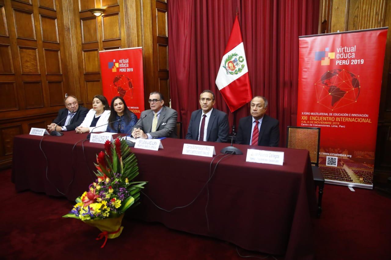 Se realizó la presentación institucional del XXI Encuentro Internacional Virtual Educa Perú 2019