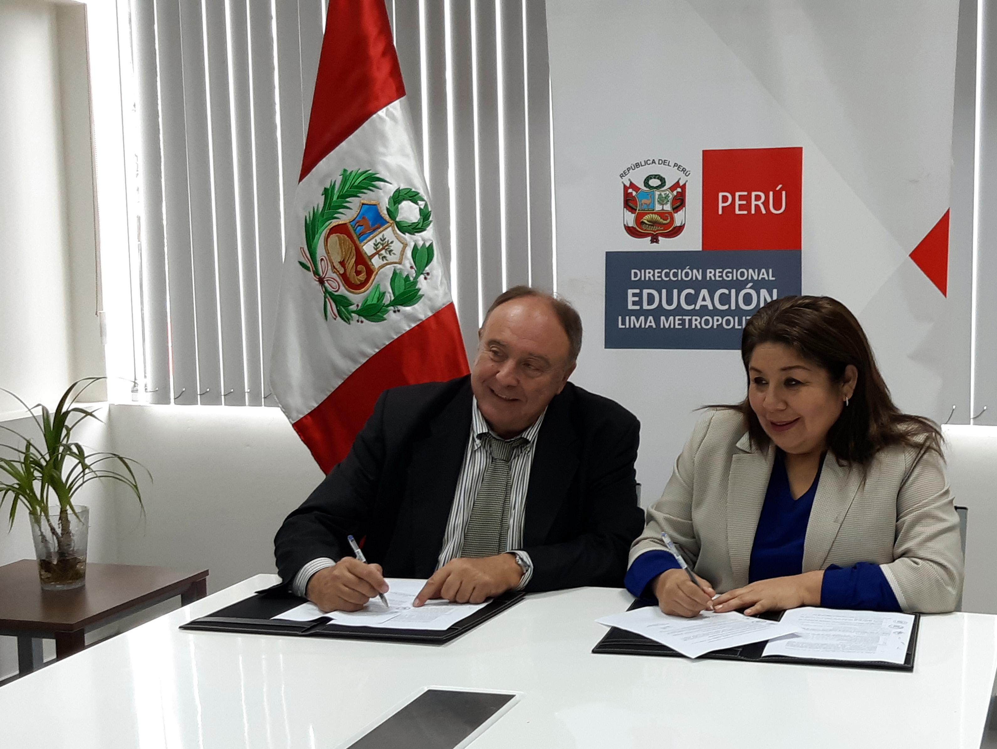 Virtual Educa firma convenio con la Dirección Regional de Educación de Lima Metropolitana