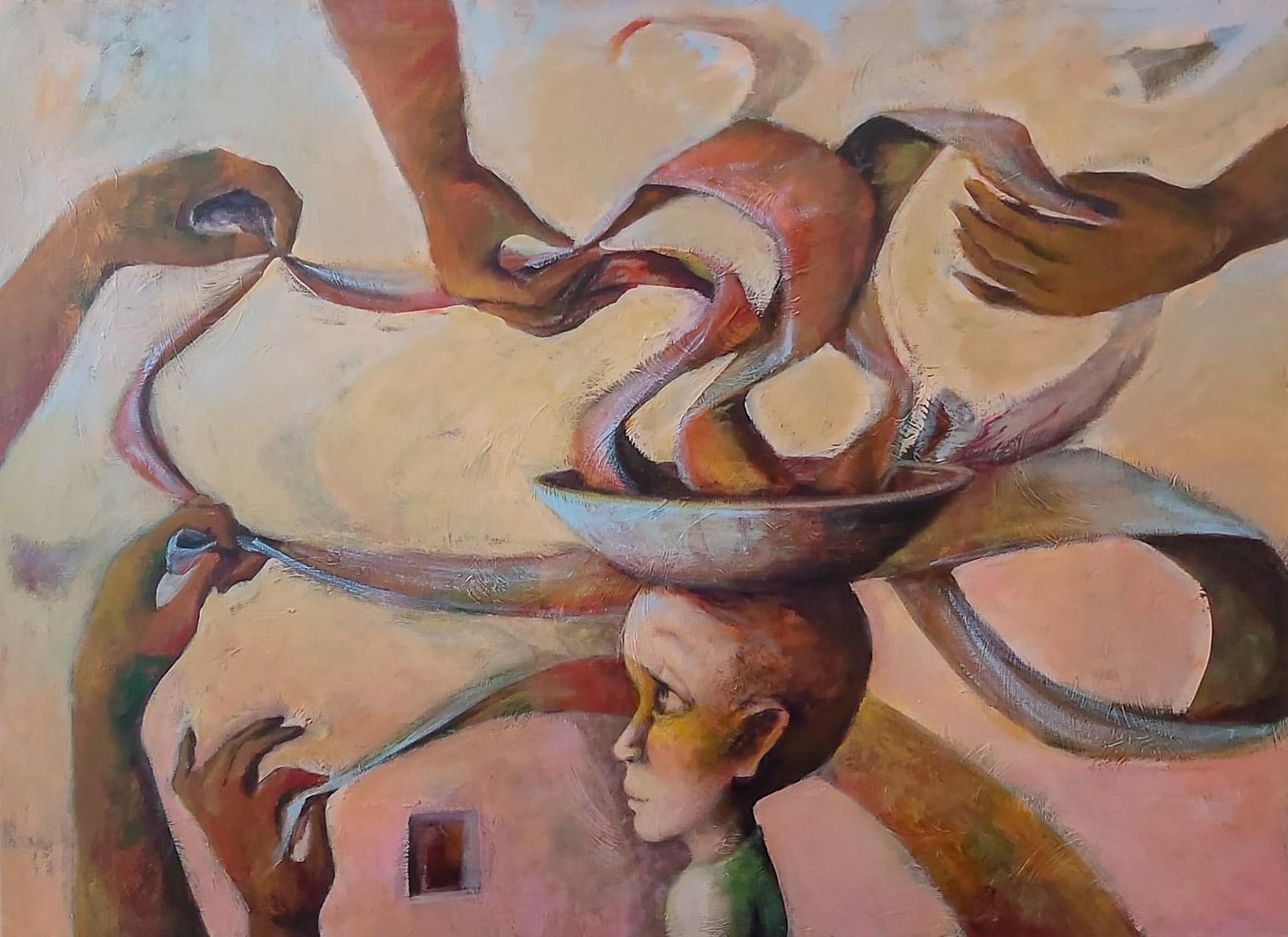 La consagrada artista Luzia Lage pintó la Educación